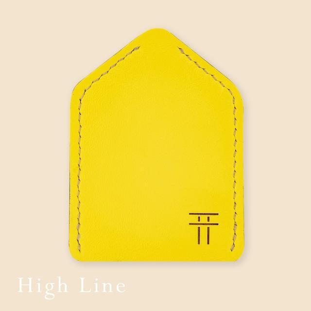 """お守りのおうち レザー """"High Line""""【 イエロー01 】"""