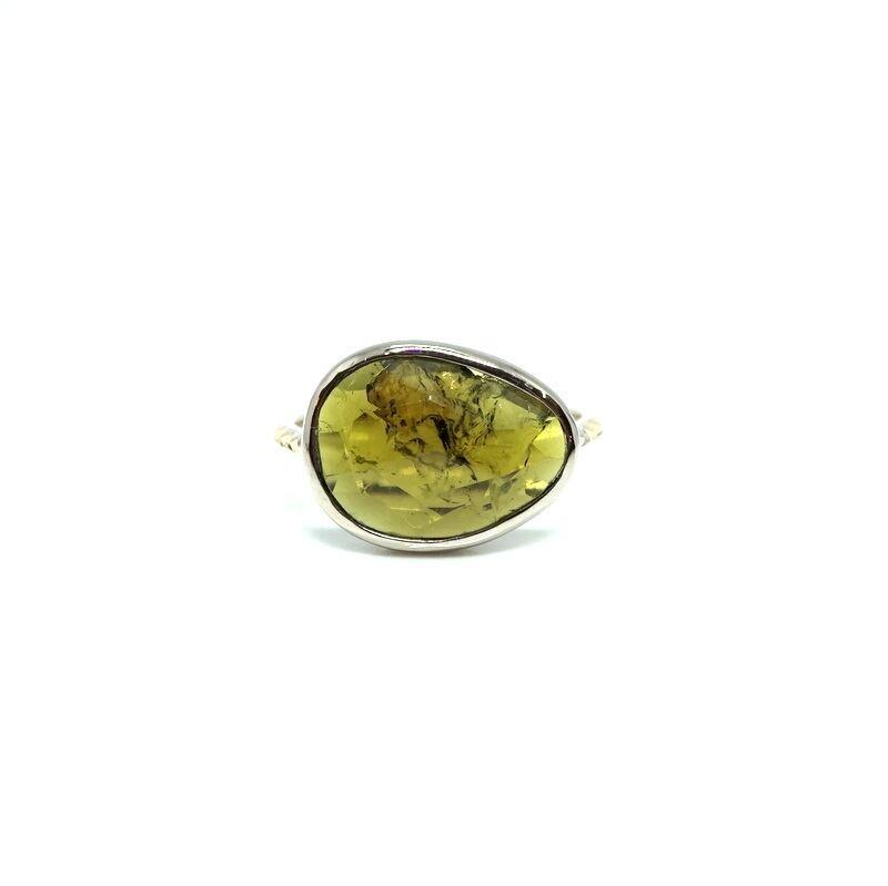 rosecut tourmaline ring - B #13