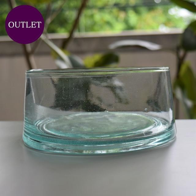 【OUTLET・ランクC】モロッコガラス ボウル L