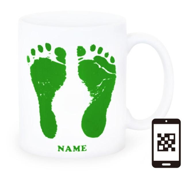 ai mug-white   A-type (GREEN) QRコード付き