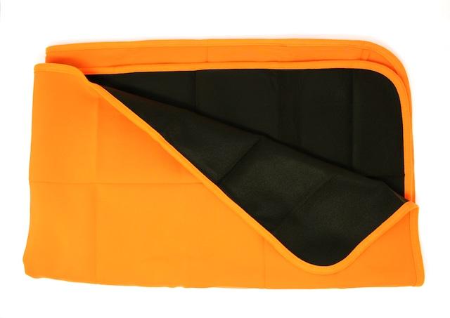 撥水備蓄用毛布 フードなしタイプ(オレンジ)