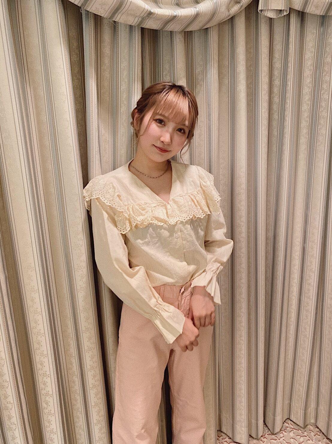 【LAST1】frill collar blouse