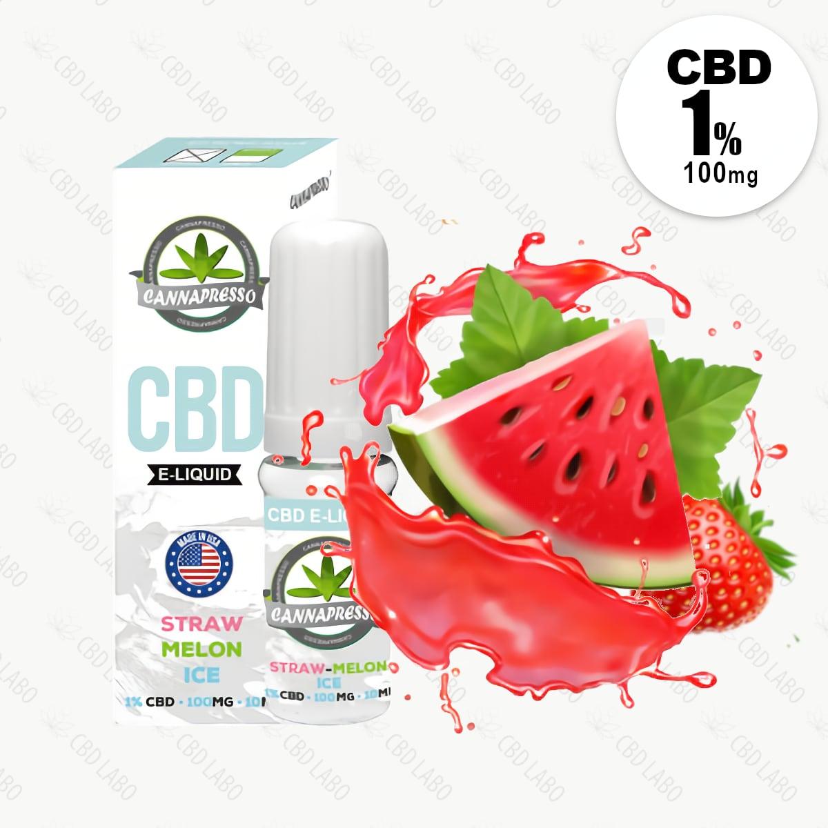 【送料無料】CANNAPRESSO CBDリキッド ストローメロンアイス 10ml CBD含有量100mg (1%)