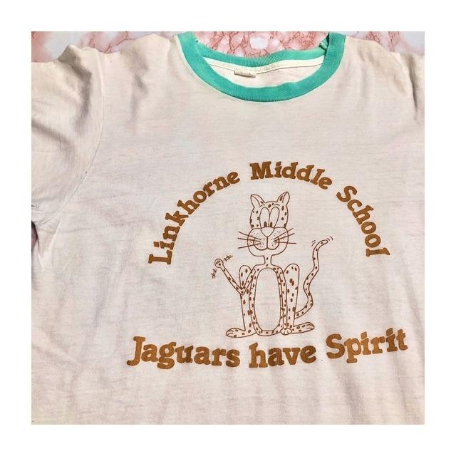 70's usa jaguarprint t-shirt