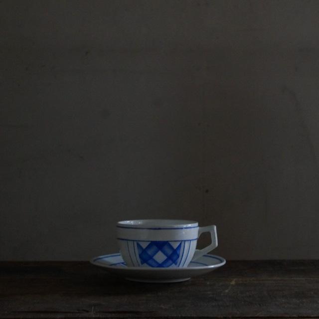 古いベルギーの陶器カップ&ソーサー