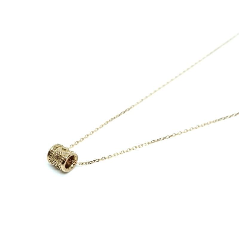 Granulation pipe Necklace - K18YG