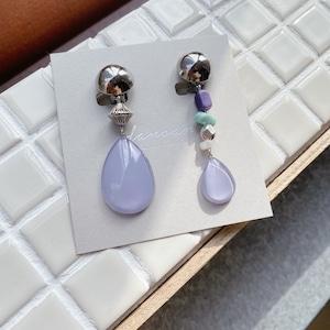 """"""" Earrings NO.danoan-100″ アシメデザイン天然石"""