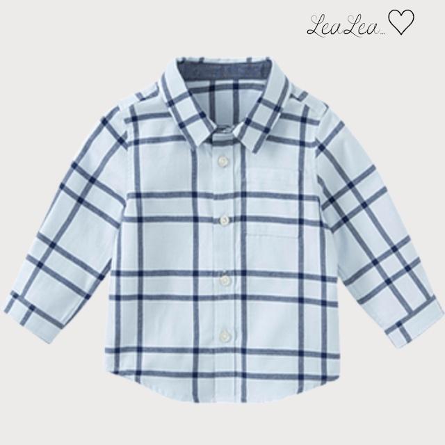 dave&bella2021AW新作♡ブルーチェックシャツ(80cm-140cm)| LeaLea...♡(レアレア)-海外の子供服セレクトショップ