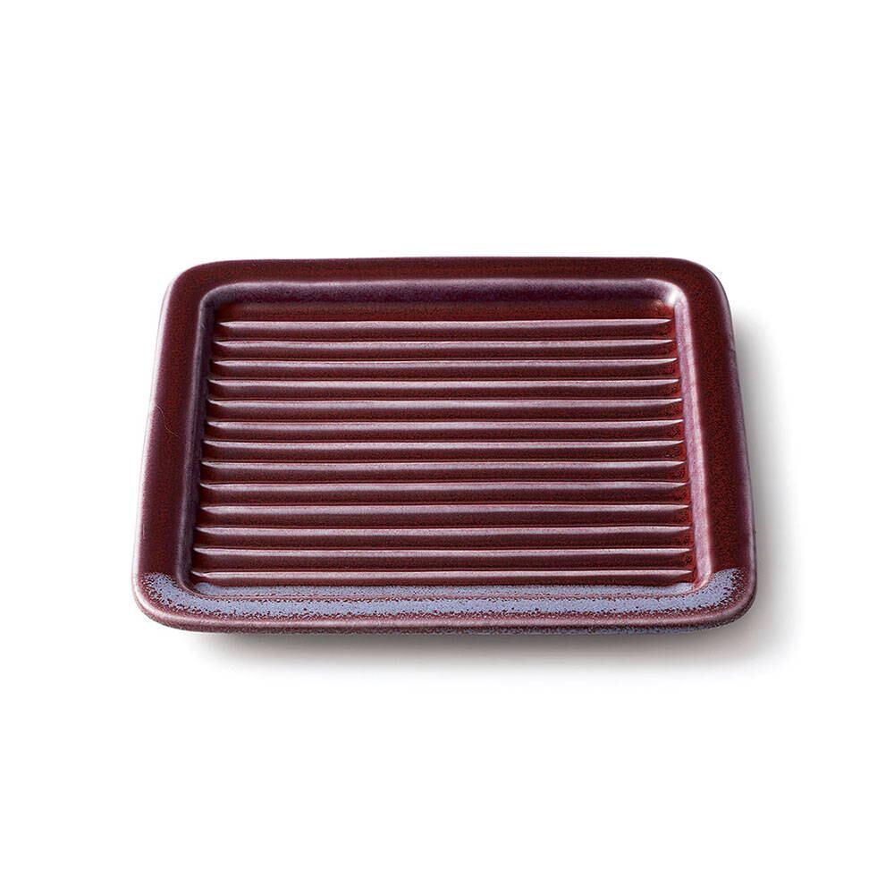 aito製作所 「Itsumo いつも」 サクッとトーストプレート 17.6cm パープル 美濃焼 262039