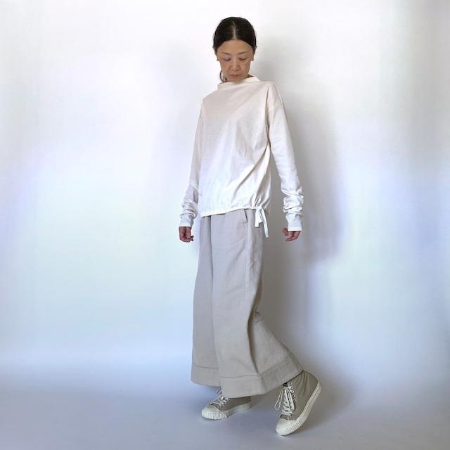 後ろリボン付き七分袖ワイドプルオーバ (U02)