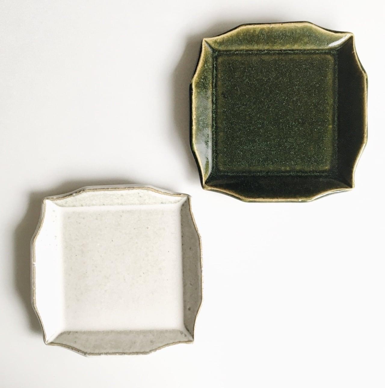 寿山窯/リムスクエア豆皿