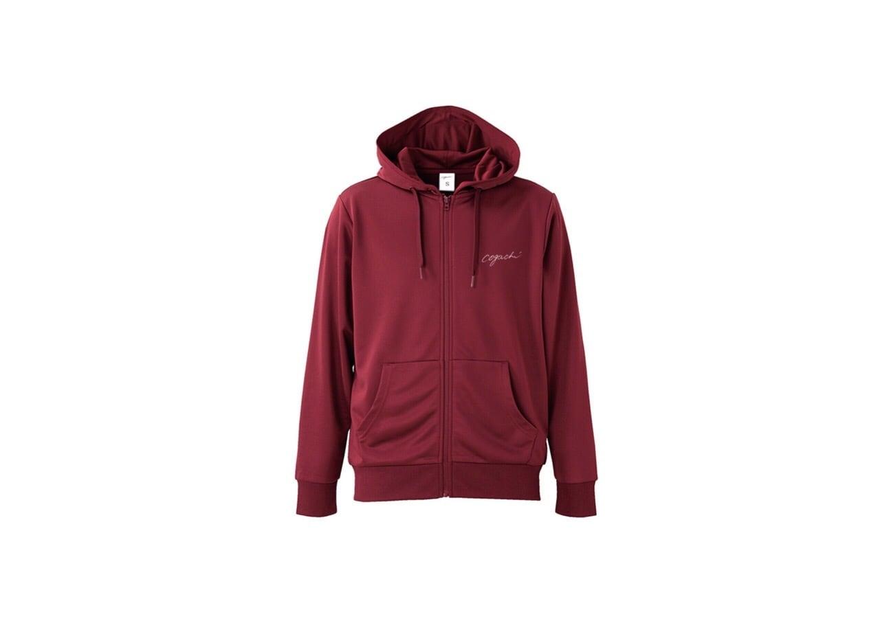 coguchi dry zip hoodie (bur/wh)