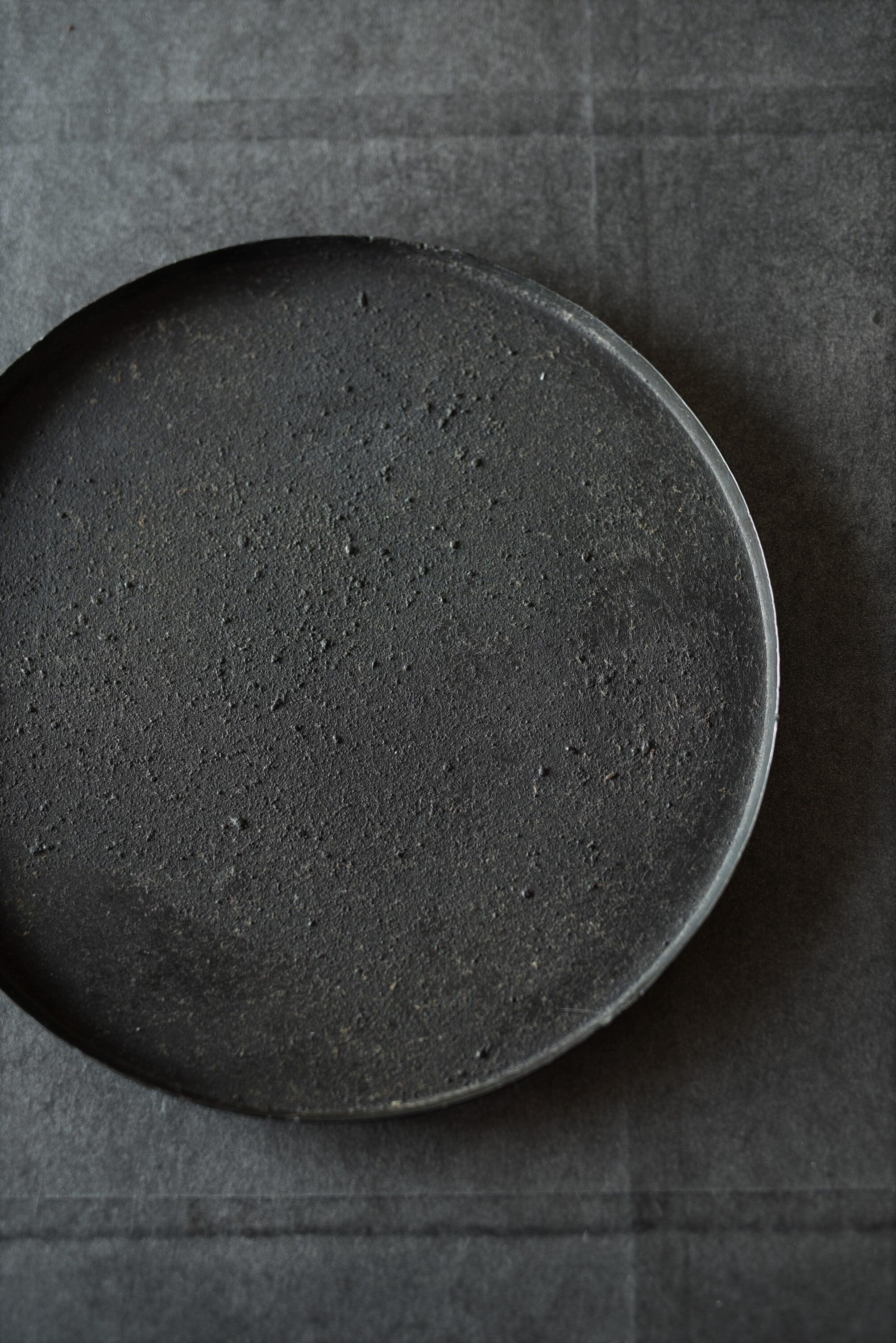 大山求 黒錆リム盆