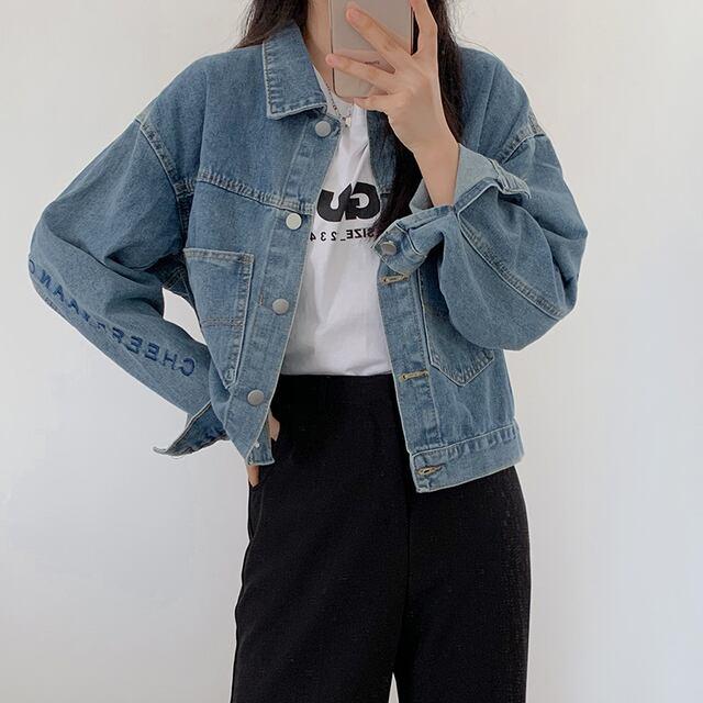 ショートデニムジャケット YH9302