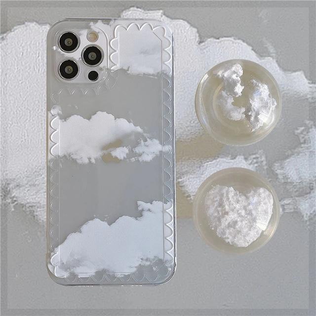 グリップ付き♪ Crystal cloud iphone case