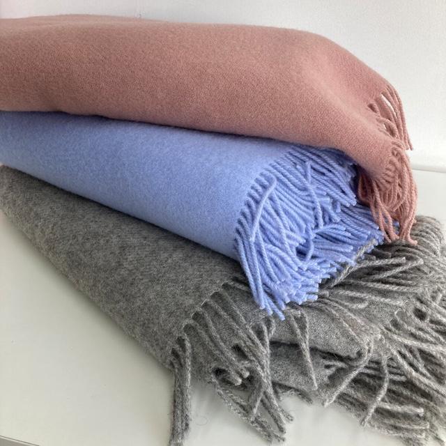 ウールブランケット シルケボー Silkeborg リトアニア製 大判 ひざ掛け 毛布 グレー