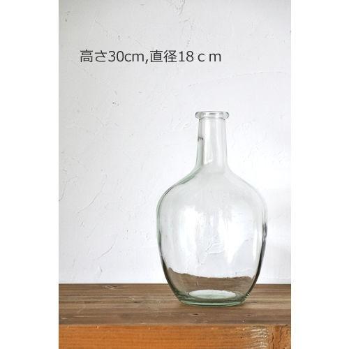 とっくり型の大きなガラス瓶 122-SF12CL