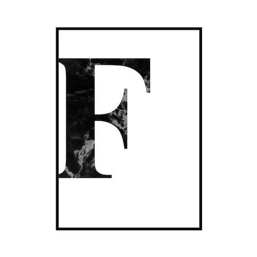 """""""F"""" 黒大理石 - Black marble - ALPHAシリーズ [SD-000507] A2サイズ ポスター単品"""