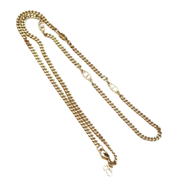 ONLY ONE【VINTAGE ACCESSORY】DIOR  CDロゴ チェーンネックレス 2021-101