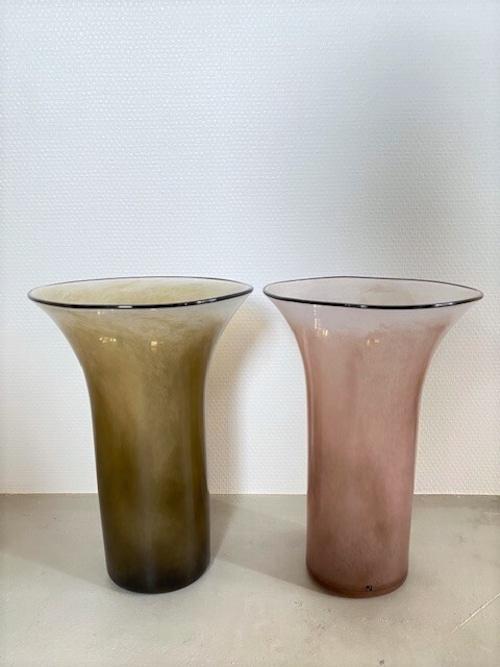 【送料無料】kasumi vase  L size  (グリーン / パープル )