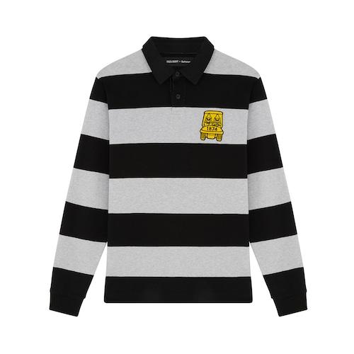 [HOLE 209] Lyle&Scott × Golfickers RUGBY SHIRT -B&W-