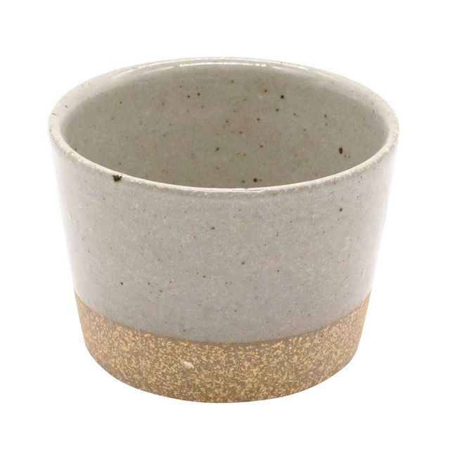 萬古焼 藍窯 フリーカップ 直径9cm 160ml 「エスタ Esta」 赤土グレー AGM-200114