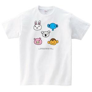 動物 Tシャツ メンズ レディース 半袖 シンプル ゆったり おしゃ れ トップス 白 30代 40代 ペア ルック キャラ 大きいサイズ 綿1 00% 160 S M L XL