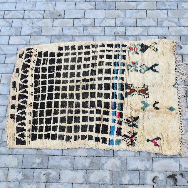"""【Vintage】モロッコラグ・ブジャド """"140cm×100cm"""""""