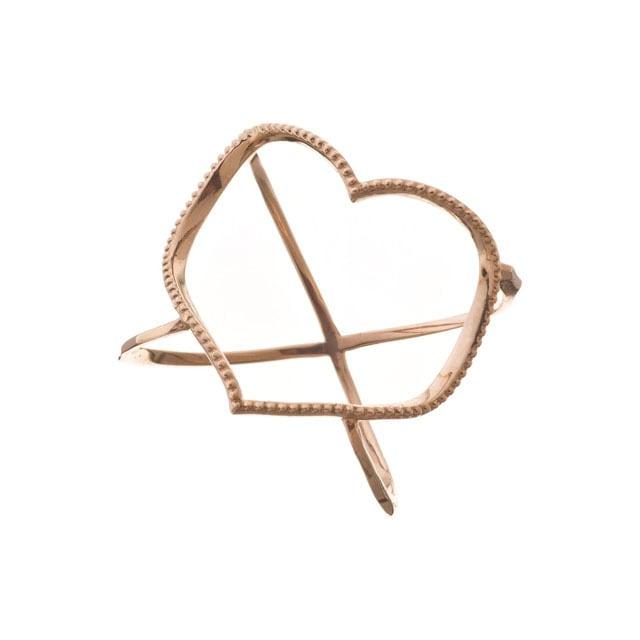 K10 Open Heart Ring 10金オープンハートリング ELR0001G