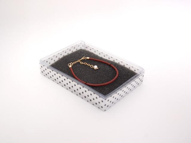 栃木レザーを使用したシンプルレザー&14kgfブレスレット(ブラウン)