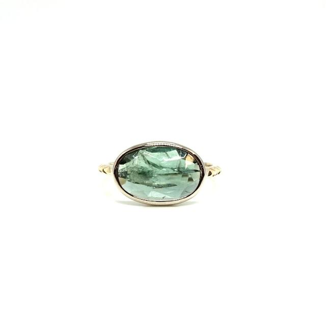 rosecut tourmaline ring - D #11