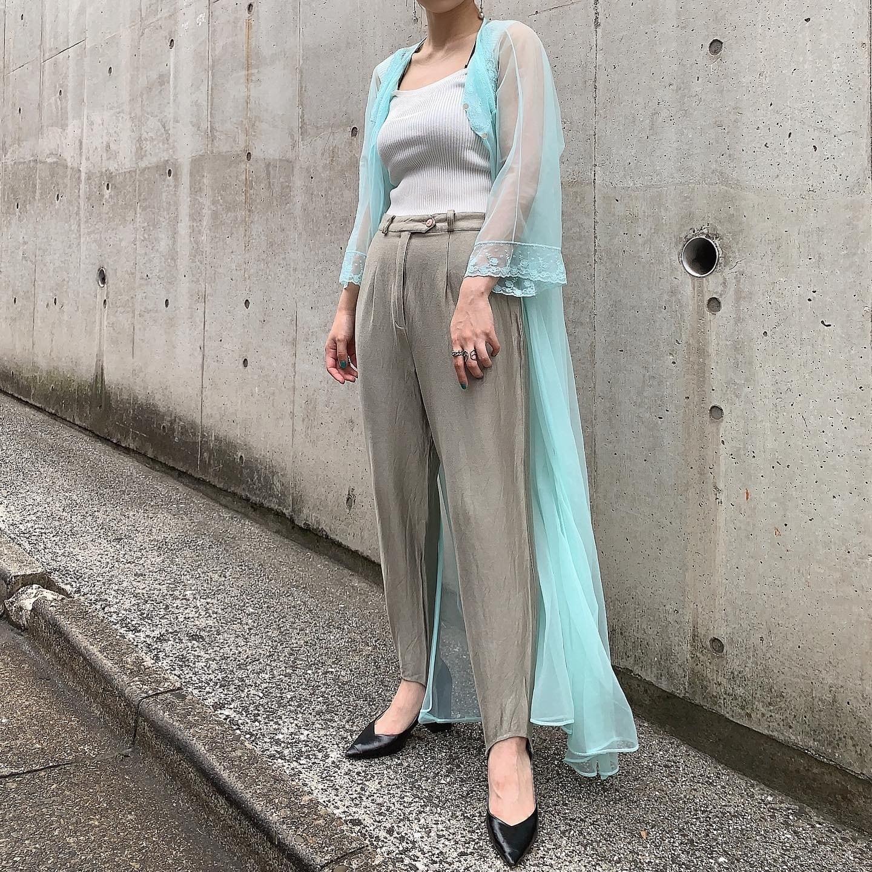 vintage négligé gown - aqua blue -