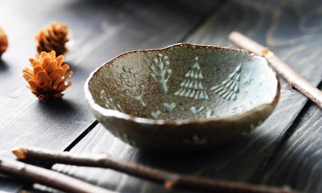 雫の森 | 陶器 | 明るいおひさま | 豆皿 |こむろしずか