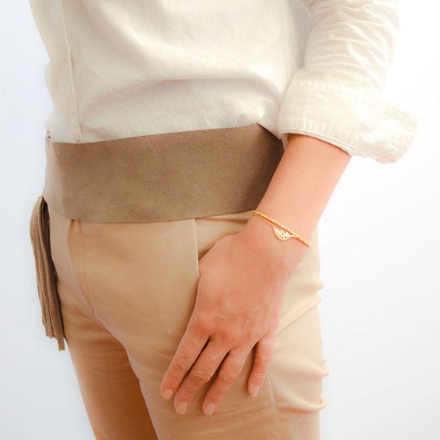 2set Matte Gold Leaf Bracelet