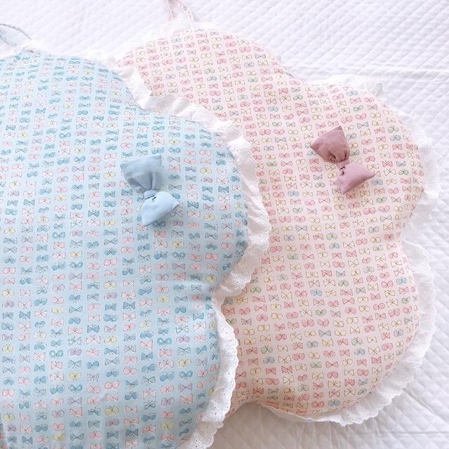 *お花のシルエット* 赤ちゃん抱っこ布団 ベビー用 お昼寝マット おむつ替え トッポンチーノ 出産祝い(リボン柄)