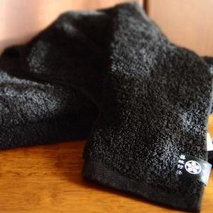 <ツムギラボ>Black face towel