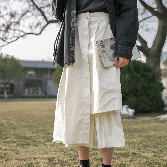 A-line layered  skirt(Aラインレイヤードスカート)   a-812