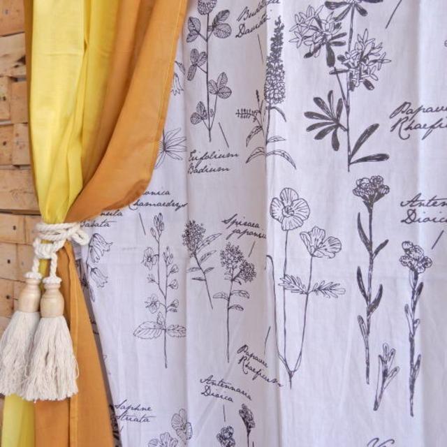 ランドスケープ カーテン 110×180cm フラワー