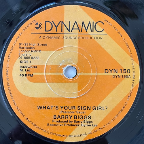 Barry Biggs - What's Your Sign Girl?【7-20783】