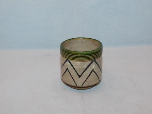 織部盃 Oribe porcelain sake cup
