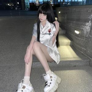 【トップス】ファッションセクシー半袖プリントポリエステルTシャツ48346437
