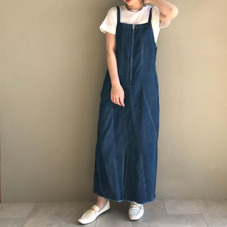 【 ANTGAUGE】- GE391 - ロングIラインサロペットスカート