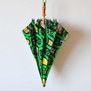 Bon Bon Store アフリカンバティック長傘(竹 001)