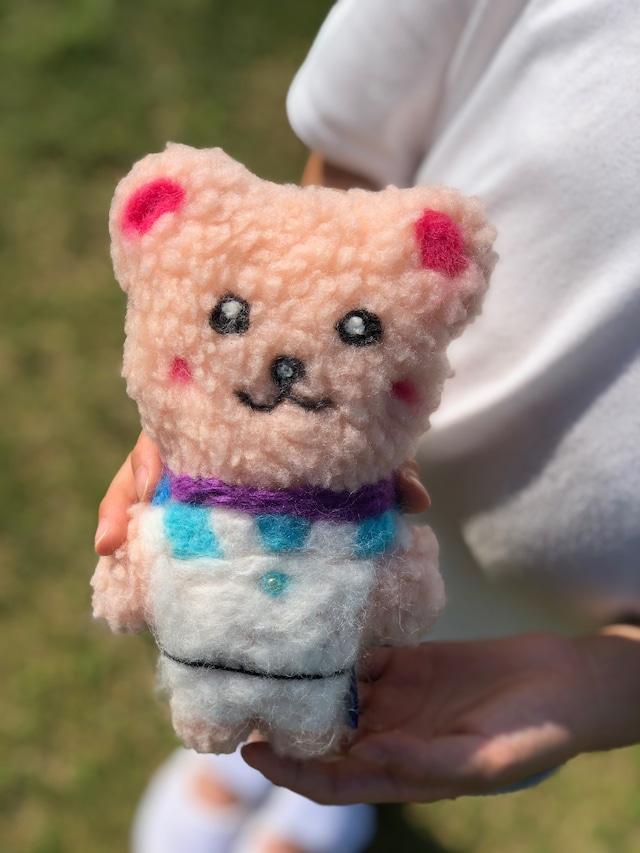 ぬいぐるみ_もふもふクマ(pink)