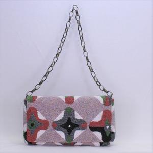 L ビーズ刺繡 ショルダーバッグ Lサイズ