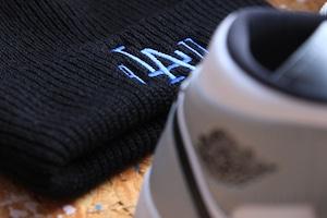 "b""LA""zz beanie [BLACK/BLUE]"