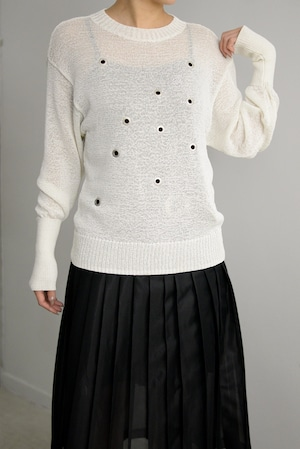 YOHEI OHNO / Bone Shape Summer Sweater