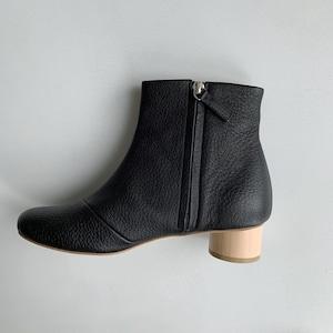 【_Fot】wood heel boots 35 _circle○(maple)/030135sc_b_s
