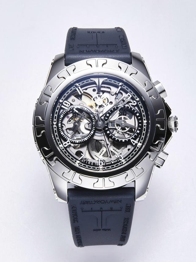 【TIRET ティレット】AC SKELETON  BLACK  ACスケルトン(ブラック)/国内正規品 腕時計