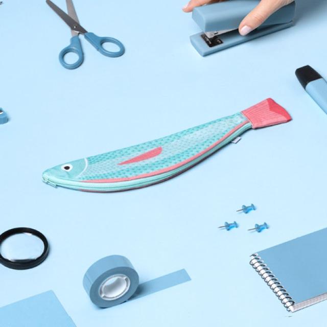 《魚》おさかなポーチ DON FISHER ドンフィッシャー VERDIN スペイン 輸入雑貨 ブルー×ピンク